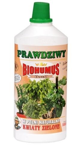 Biohumus Extra Kwiaty Zieloneto płynny nawóz naturalny, zapewniający bujny wzrost i intensywne wybarwienie liści oraz zwiększający odporność na choroby i szkodniki. Powoduje pełne i właściwe wykorzystanie pożywki, utrzymanie wilgoci w glebie, wzmacnia system samoobrony roślin i warunkuje ich właściwy rozwój.Stosowanie:Przy każdorazowym zapotrzebowaniu na wodę, 3-4 nakrętki na 1 litr wody w miesiącach od początku kwietnia do końca października oraz 1-3 nakrętki na 1 litr wody w okresie od początku listopada do końca marca.