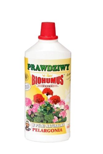 Biohumus Extra Pelargoniajest płynnym, łatwo przyswajalnym nawozem naturalnym znakomicie wpływającym na wzrost, kondycję i zdrowie wszelkich odmian palm, jukk i dracen. Zapewnia bujny wzrost, intensywne wybarwienie liści oraz zwiększa odporność na choroby i szkodniki.Stosowanie:Przy każdorazowym zapotrzebowaniu na wodę, 3-4 nakrętki na 1 litr wody.