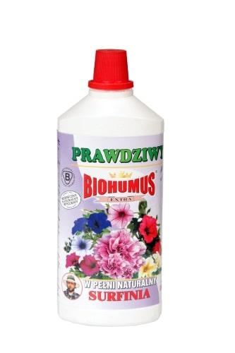 Biohumus Extra Surfiniajest naturalnym nawozem dedykowanym do wszystkich odmian surfinii. Zapewnia intensywny wzrost surfinii, jej długie i obfite kwitnienie oraz intensywne wybarwienie liści i kwiatów. Stosowanie nawozu zapewnia prawidłowy wzrost kwiatów, ponadto pozytywnie wpływa na ich kondycję, zwiększając odporność na choroby i szkodniki. Produkt bezpieczny, naturalny, nieprzedawkowalny.Stosowanie:Przy każdorazowym zapotrzebowaniu na wodę, 3-4 nakrętki na 1 litr wody.