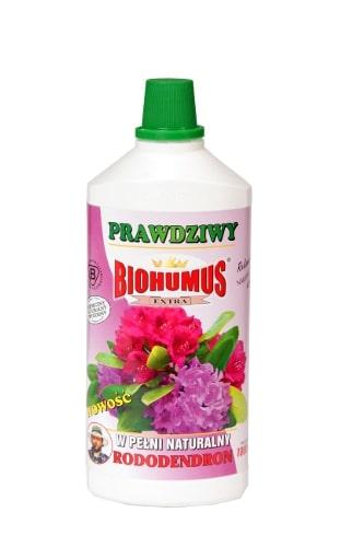 Biohumus Extra Rododendronjest nawozem przeznaczonym do zasilania wszystkich rodzajów rododendronów oraz azalii. Zawiera bogatą mikroflorę bakteryjną oraz próchnicę pokarmową, które znakomicie wpływają na ogólny wygląd rośliny, poprawiają jej odporność na choroby, przedłużają okres kwitnienia i stymulują powstawanie pąków kwiatowych. Biohumus Extra Rododendron jest produktem nieprzedawkowalnym, zapewniającym bujny wzrost i intensywne wybarwienie liści i kwiatów.Stosowanie:Przy każdorazowym zapotrzebowaniu na wodę, 3-4 nakrętki na 1 litr wody.