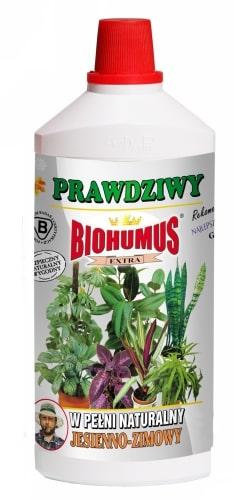 Biohumus Extra Jesienno-Zimowyjest czystym ekologicznie produktem o charakterze biodynamicznym. Dedykowany do ogólnego zasilania roślin działkowych, rabatowych i doniczkowych w okresie jesienno-zimowym. Zawiera stymulator dawkowania pokarmu.Stosowanie:Przy każdorazowym zapotrzebowaniu na wodę, 3-4 nakrętki na 1 litr wody.