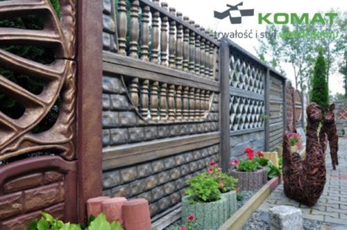 ogrodzenie betonowe wzór nr 1