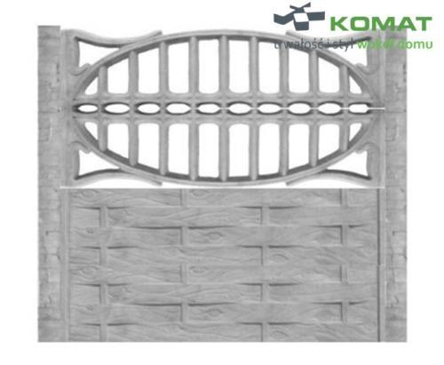 ogrodzenie betonowe wzór nr 2