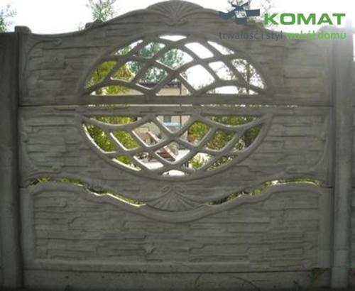 ogrodzenie betonowe wzór nr 6