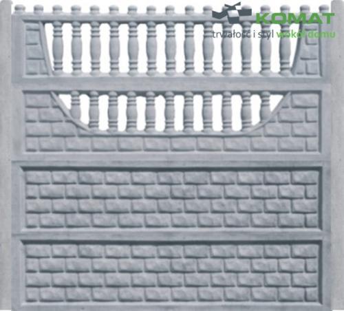 ogrodzenie betonowe wzór nr 7