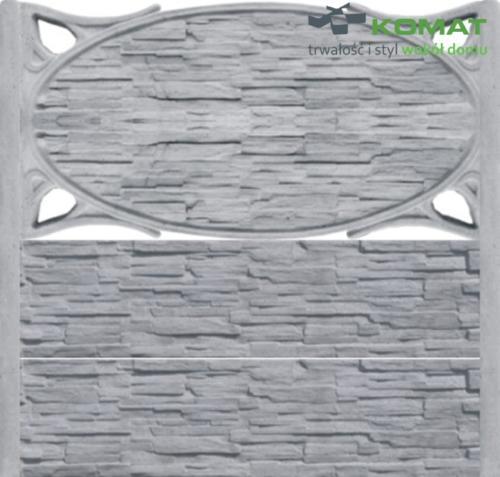 ogrodzenie betonowe wzór nr 8